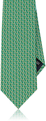 Salvatore Ferragamo Men's Chain-Link-Print Silk Necktie $190 thestylecure.com
