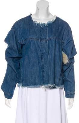 Marques Almeida Marques' Almeida Shearling-Trimmed Denim Jacket