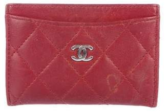 Chanel Quilted CC Card Holder