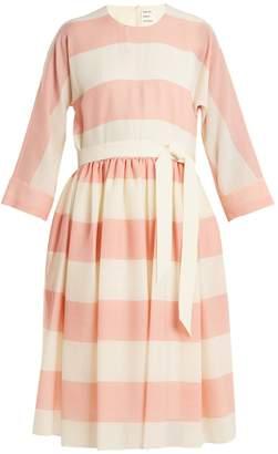 Maison Rabih Kayrouz Etamine dropped-waist striped wool dress
