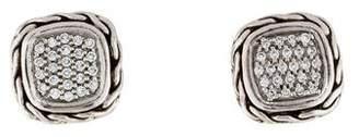 John Hardy Diamond Classic Chain Stud Earrings