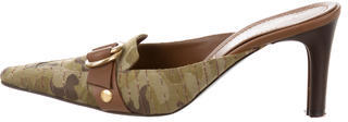 Casadei Camouflage Pointed-Toe Mules $85 thestylecure.com