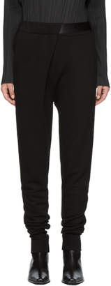 Ann Demeulemeester SSENSE Exclusive Black Tapered Lounge Pants