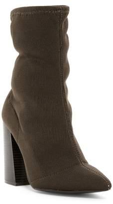 Wild Diva Lounge Lust Block Heel Sock Boot