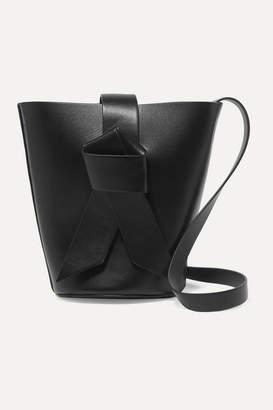 Acne Studios Musubi Bucket Mini Knotted Leather Bucket Bag - Black