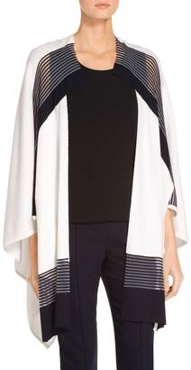 St. John Technical Engineered Color Block Knit Wrap