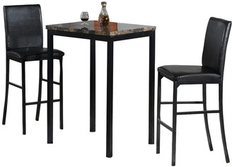 3-pc. Faux-Marble Bistro Set