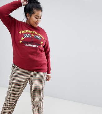 Daisy Street Plus relaxed sweatshirt with vintage print