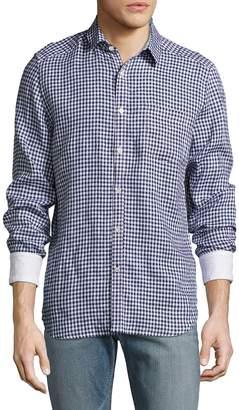 Gilded Age Men's Printed Linen Sportshirt