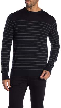 Toscano Stripe Crew Neck Knit Sweater