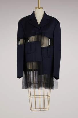 Maison Margiela Cut-out wool jacket