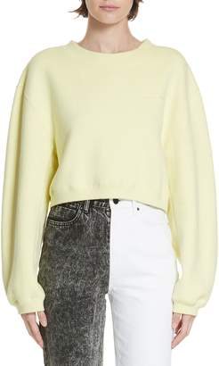 Alexander Wang alexanderwang.t French Terry Crop Sweatshirt