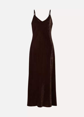 Hatch The Ricky Velvet Midi Dress - Chocolate