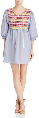 Velzera Embroidered Stripe Dress $58 thestylecure.com
