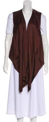 Kaufman Franco KAUFMANFRANCO Draped Silk Vest