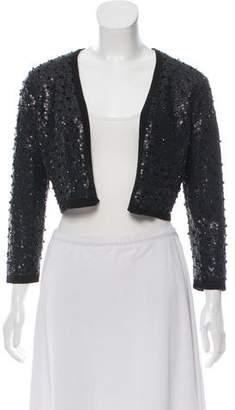 Josie Natori Silk Sequin Jacket