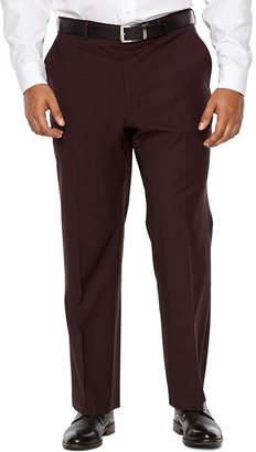 Jf J.Ferrar Merlot Stretch Pulse Suit Pant Classic Fit Stretch Suit Pants - Big and Tall