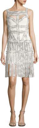 Herve Leger Cut-Out Fringe Dress