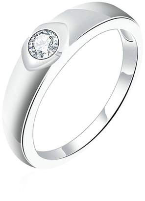 Aokarry Wedding Ring,Silver Plated Fashion Jewelry Bride Ring Wedding Bands for Womens Size 7