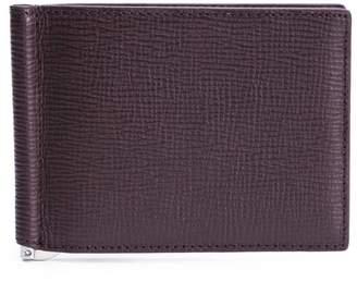 Faire Leather Co. Specter Cg Bifold Wallet W Money Clip Burgundy