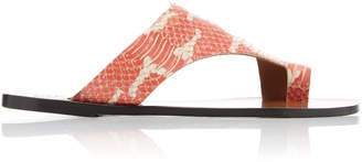 Atelier ATP Roma Snake-Effect Leather Sandals