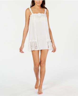 Linea Donatella Lace Trim Clip Dot Chemise Nightgown