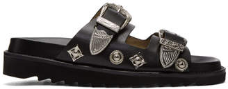 Toga Pulla Black Charms and Buckle Slides