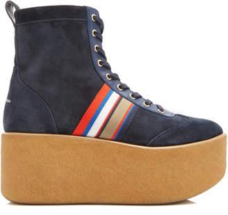 Tory Burch High Top Platform Sneakers