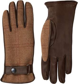 Purdey Leather Tweed Gloves