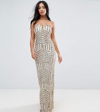 TFNC Petite Petite Bandeau Sequin Maxi Dress