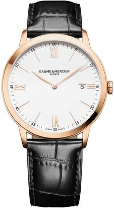 Baume & Mercier Classima Leather Strap Watch, 40mm