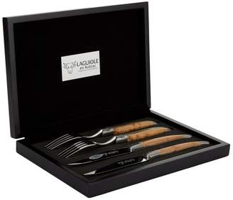 Laguiole Juniper Four-Piece Steak Cutlery Set