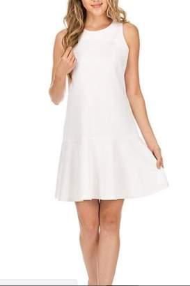 Jade Flounced Ponte Dress