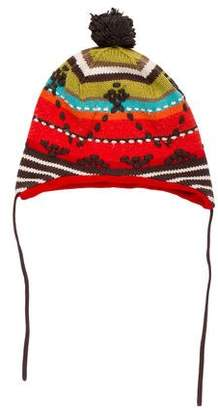 Catimini Boys' Knit Embroidered Beanie