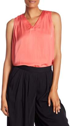 Catherine Malandrino Sleeveless V-Neck Blouse