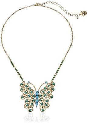 Betsey Johnson Boho Betsey Butterfly Pendant Necklace