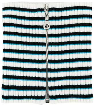 Maison Margiela striped zip-up cuff scarf