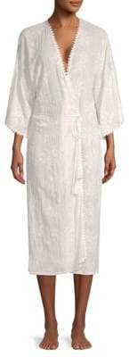 In Bloom Birdsong Embroidered Floral Robe
