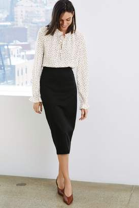 Next Womens Black Tailored Pencil Skirt