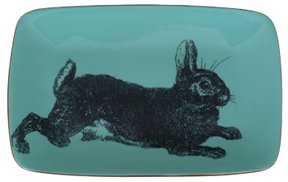 Cul De Sac Design Bunny Rectangle Plate