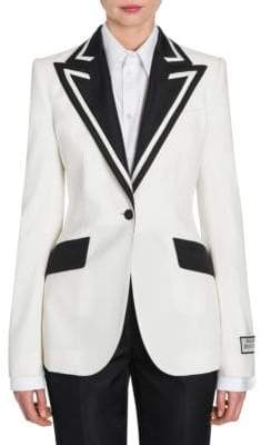 Dolce & Gabbana Contrast Trim Single-Breasted Jacket