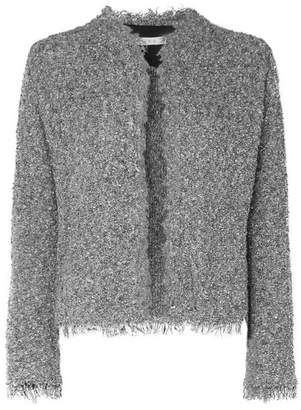 IRO Shavani Frayed Cotton-blend Bouclé Jacket - Charcoal