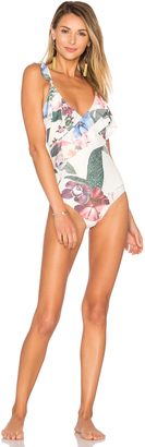 Lovers + Friends Tropical Oasis One Piece $148 thestylecure.com