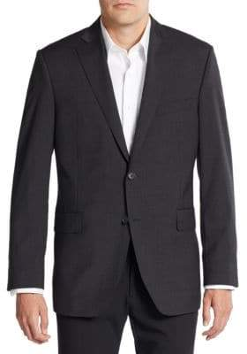 Saks Fifth Avenue Slim-Fit Solid Wool Sportcoat