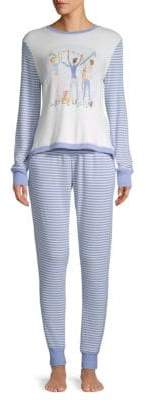 Two-Piece Striped Long-Sleeve Pajamas