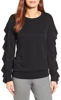 Women's Halogen Ruffle Sleeve Sweater $69 thestylecure.com