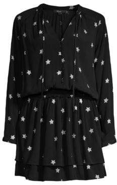Rails Jasmine Star Ruffle Hem Mini Dress
