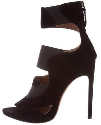 Alaia Suede Cage Ankle Boots