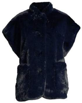 Burberry Whalton Faux Fur Shearling Cape