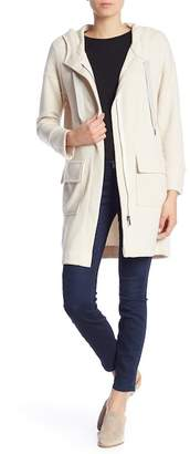 Splendid Long Sleeve Knit Hooded Coat